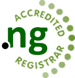 Web4Africa is an Accredited .NG Registrar.