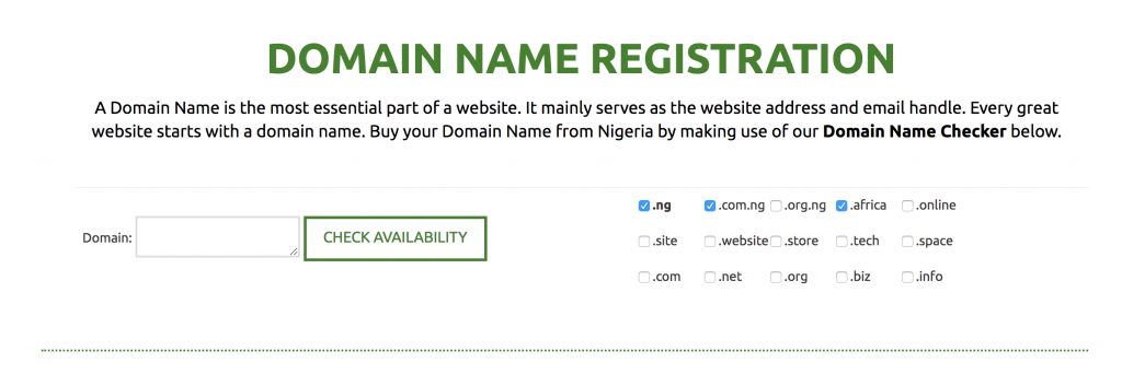 How To Register Buy A Domain Name In Nigeria Web4africa Nigeria