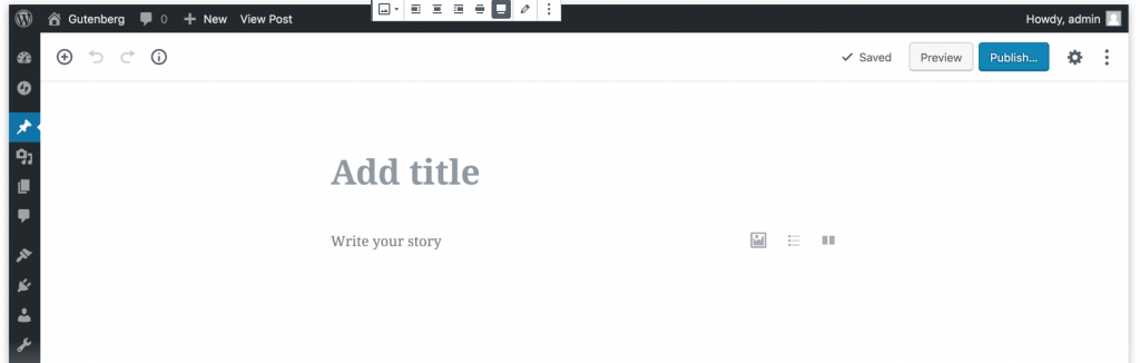 Gutenburg is a basic layout editor that comes with the latest version of WordPress.