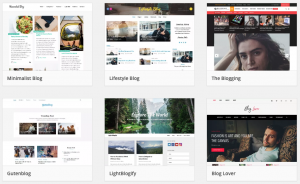 There are dozens of thousands of free WordPress Blog themes out there.