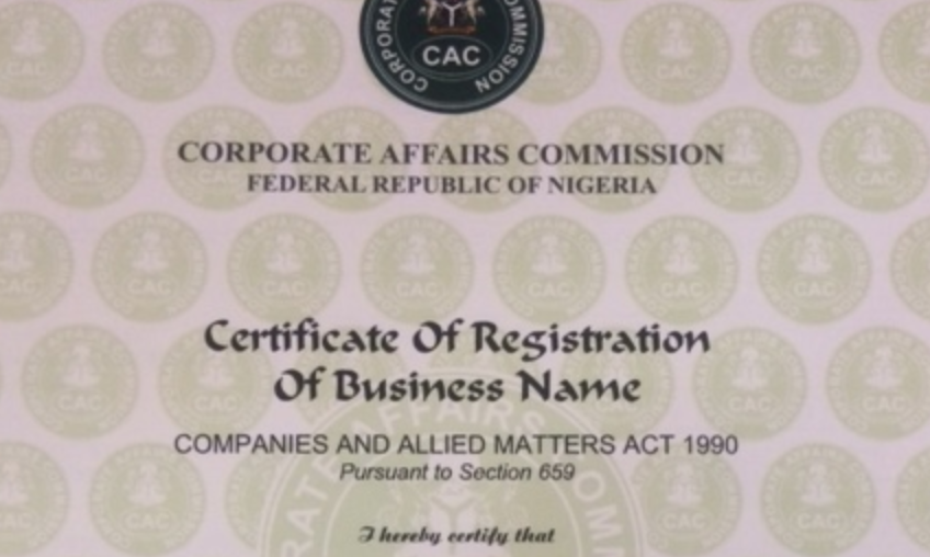 Business Name Certificate in Nigeria
